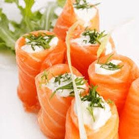 salmon-roses